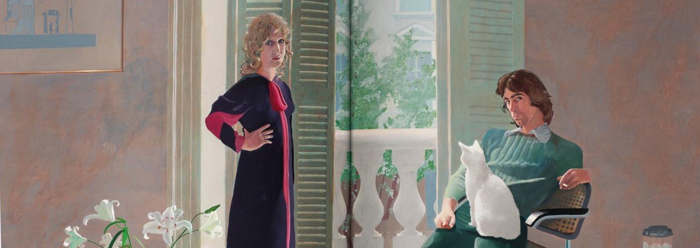 Das Foto zeigt einen Anschnitt von dem Gemälde
