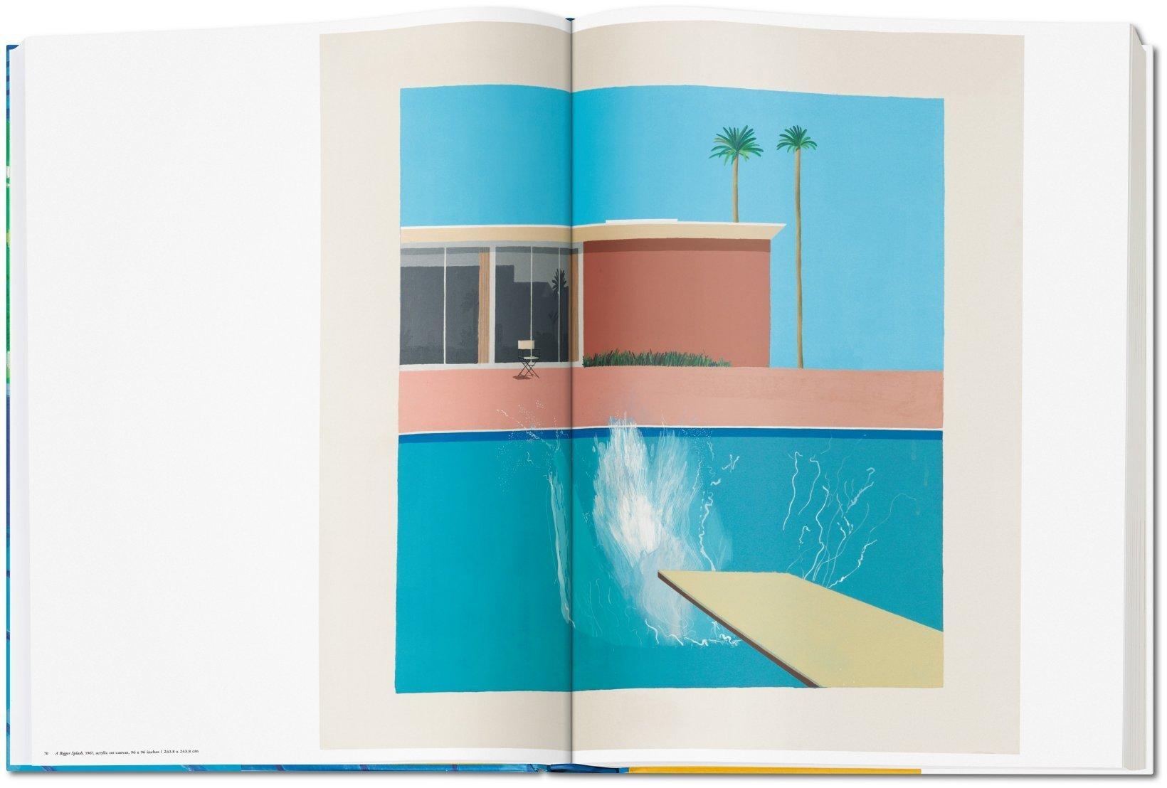 """Das Foto zeigt das Gemälde """"A Bigger Splash, 1967"""" aus dem Buch: David Hockney - A Bigger Book, das im TASCHEN Verlag erschienen ist."""