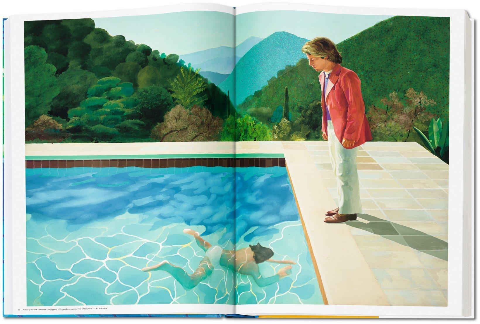 """Das Foto zeigt das Gemälde """"Portrait of an Artist (Pool with Two Figures), 1972"""" aus dem Buch: David Hockney - A Bigger Book, das im TASCHEN Verlag erschienen ist."""