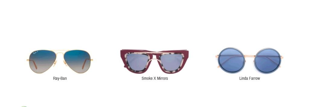Hier sieht man Sonnenbrillen von Ray-Ban, Smoke X Mirrors und Linda Farrow.