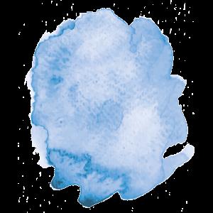 Ein blauer Tintenfleck steht für eine Sonnenbrille mit blauen Gläsern für Frühjahr/Sommer 2017.
