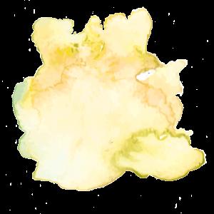 Ein gelber Klecks mit Aquarell-Farbe steht sinnbildlich für eine Sonnenbrille mit gelben Gläsern für Frühjahr/Sommer 2017.
