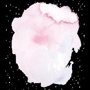 Ein rosa Klecks mit Aquarell-Farbe illustriert eine Sonnenbrille mit rosa Gläsern für Frühjahr/Sommer 2017.