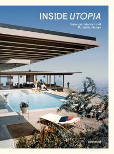 Hier sieht man das Cover von dem Buch Inside Utopia. Es zeigt das Stahl House in Los Angeles, das 1957 von dem Architekten Pierre Koenig gebaut wurde
