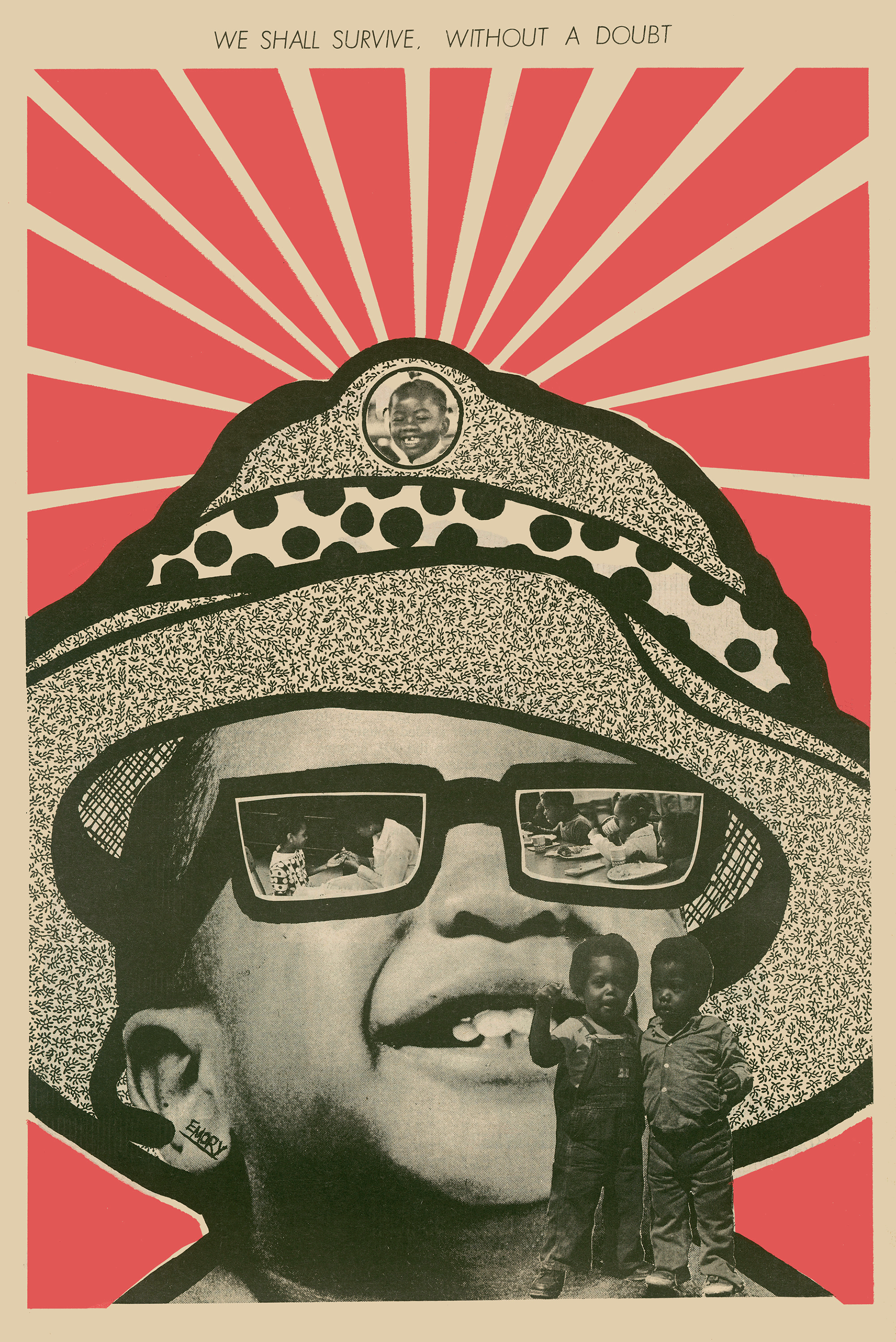 21 August 1971, 'We Shall Survive without a doubt' von Emory Douglas, 1971, Center for the Study of Political Graphics (Culver City, USA), Copyright: Emory Douglas /ARS NY, Photo credit: Courtesy of Emory Douglas/Art Resource, NY