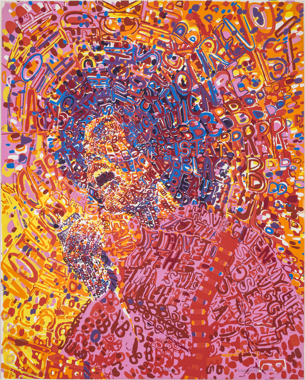 Revolutionary von Wadsworth Jarrell, 1972, Courtesy Lusenhop  Fine Art, Copyright: Wadsworth Jarrell