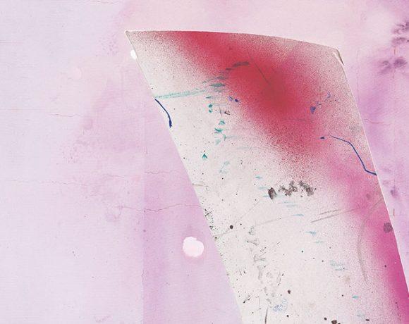 Dieses Bild zeigt einen Ausschnitt des Gemäldes Childhood (4) von Julian Schnabel, 2016, Pigmentdruck auf Kupferdruckpapier, 80 x 57 cm, Copyright Julian Schnabel Studio