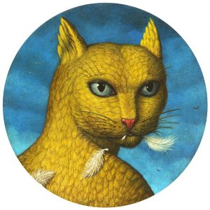 Auf dem Foto ist eine gelbe Katze zu sehen.