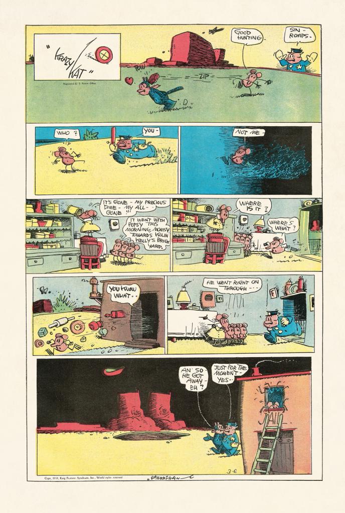 Es handelt sich hier um einen Auszug aus dem Comic Krazy Cat von George Herriman aus dem neuen Buch vom Taschen-Verlag.